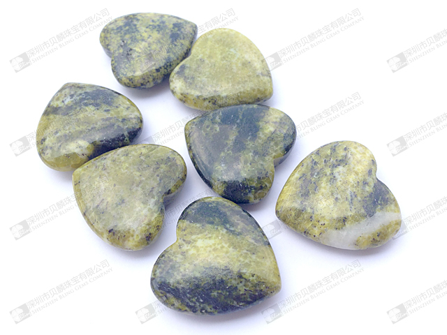 yellow turquoise heart shape beads 25mm