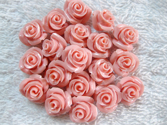 10mm Synthetic Pink Coral Flower Carvings On Sale Bling