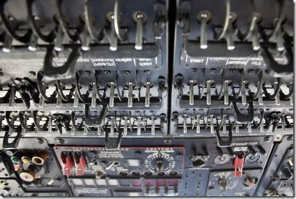 Military helicopter switches panel