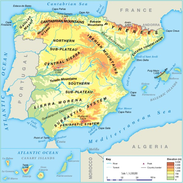 Map Of Spain With Mountains.25 Map Spain Landscapes Pictures And Ideas On Pro Landscape