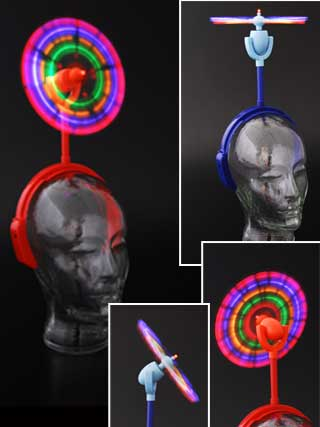 HEAD WINDMILL headgear rotor led light flashing head