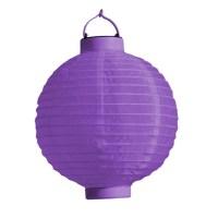 LED Lampion Laterne 20 cm Durchmesser mit Batterie AN Aus