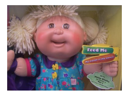 Blippee mattel snacktime cabbage patch kids, cabbage patch doll.