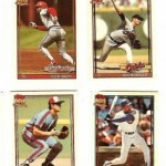 Cracker Jack Topps Series 2 baseball trading cards, front