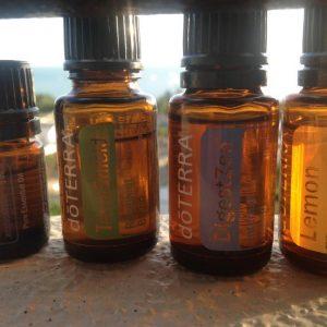 Snapshot of day oil bottles