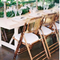 Bamboo Folding Chair Recovering Cushions Corners Natural Bliss Willow Wedding Styling