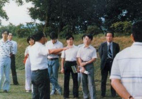 殿下跟安田教授到訪靜岡縣三島市山中城參加考察
