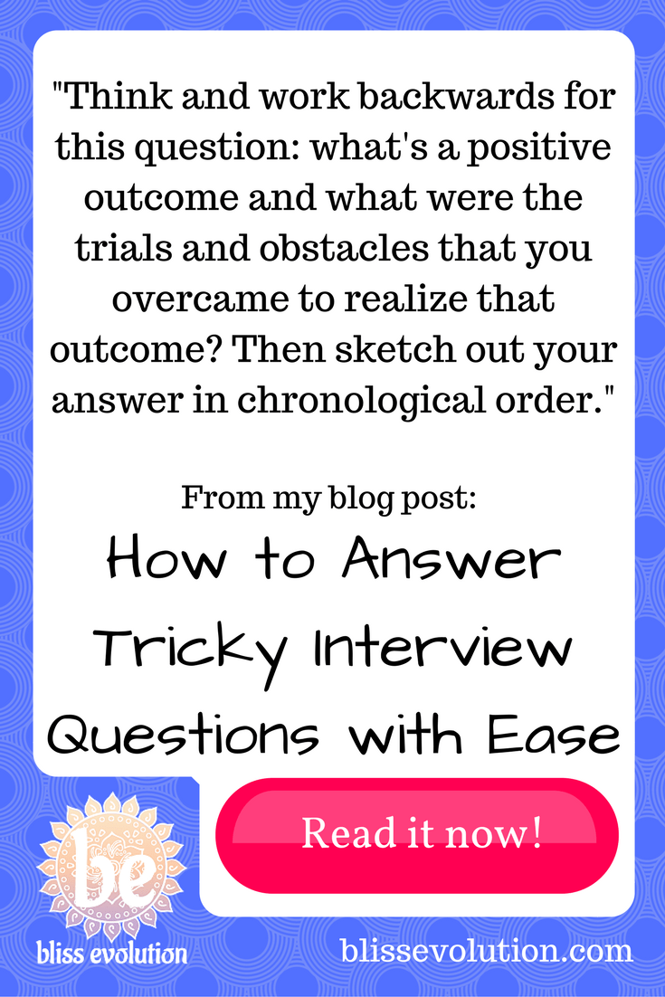 How to Answer Tricky Interview Questions with Ease | bliss evolution