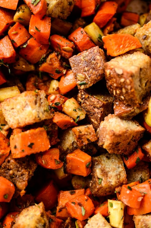 Root Vegetable Panzanella with BalsamicHerb Dressing