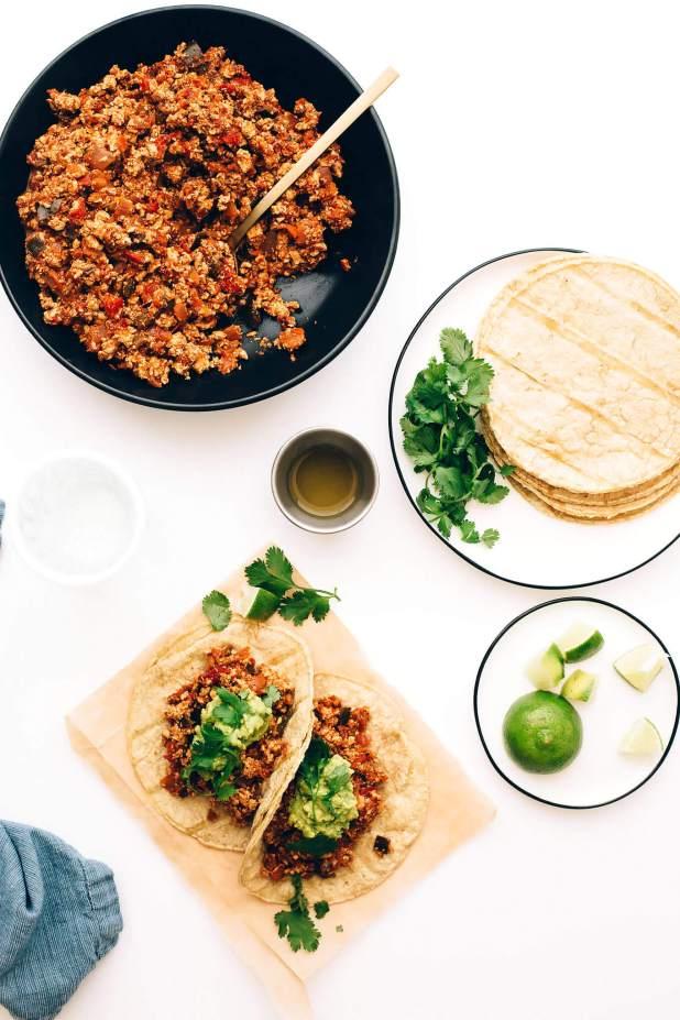 Vegan Spicy Scrambled Tofu Breakfast Tacos