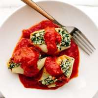 Vegan Super Greens Stuffed Shells