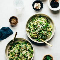 Nutty Green Veggie Crunch Salad