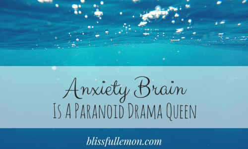 Anxiety Brain Is A Paranoid Drama Queen - This post addresses the reality of living with anxiety and depression and how it affects me and others living with these cruel illnesses. Read more at blissfullemon.com