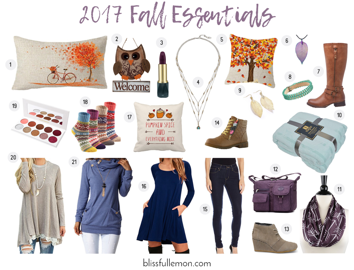 Fall has arrived! Get information on all your fall essentials for 2017 at blissfullemon.com/fall-essentials-2017