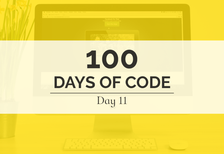 JavaScript was the focus of today's 100 Days of Code challenge as I explored JavaScript30 and the fantastic JavaScript challenges at freeCodeCamp.