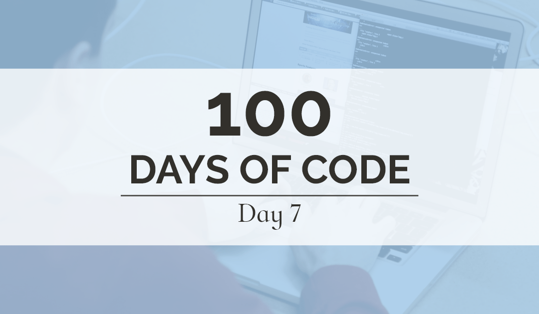 Today marks the last day of my first full week of 100 Days of Code. It's also the final day of the MysticMail mobile app landing page!