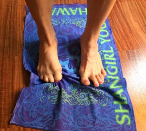 Towel scrunching - one