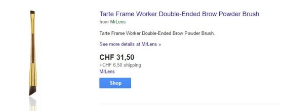 Tarte Frame Worker Double-Ended Brow Powder Brush