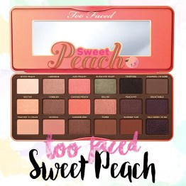 "Too Faced ""Sweet Peach"" Eye Collection Palette"