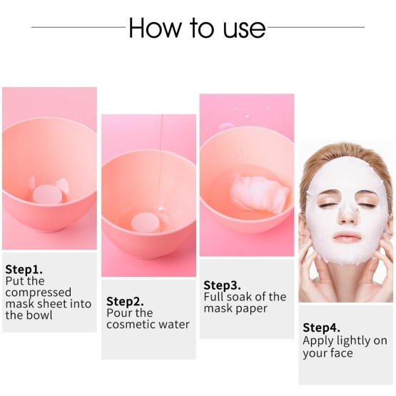 Daiso Japanese Made - Lotioned Compressed Mask Sheet