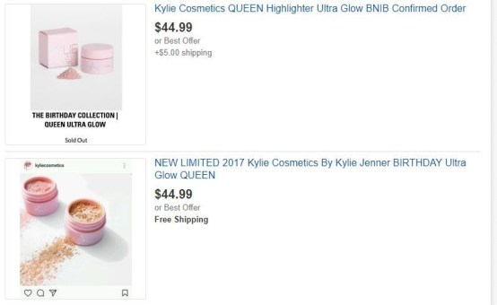 "Kylie Birthday Collection ""King"" Ultra Glow"