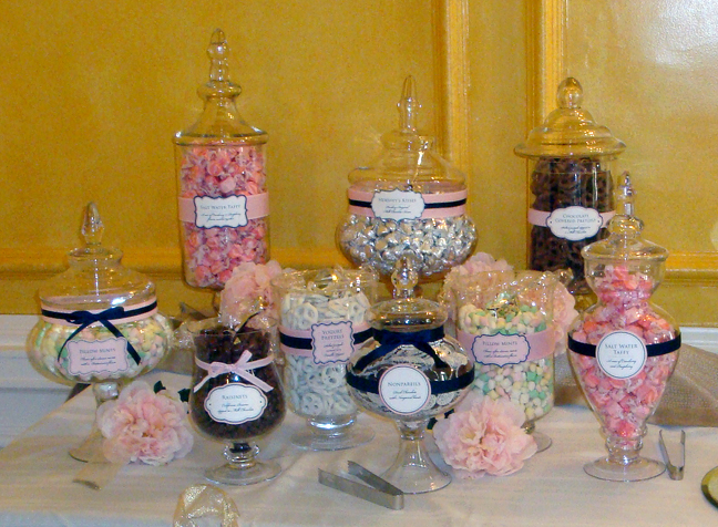Apothecary Jars, Candy Bar, Wedding Candy Bar