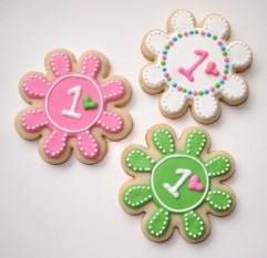 First Birthday - Girl Custom Cookies - Ones