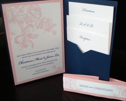 Wedding - Custom Pocketfold Invitation