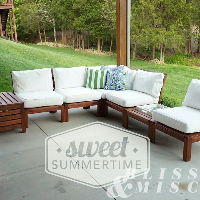 Assembled #ikea #patiofurniture - now we're ready to #welcomesummer
