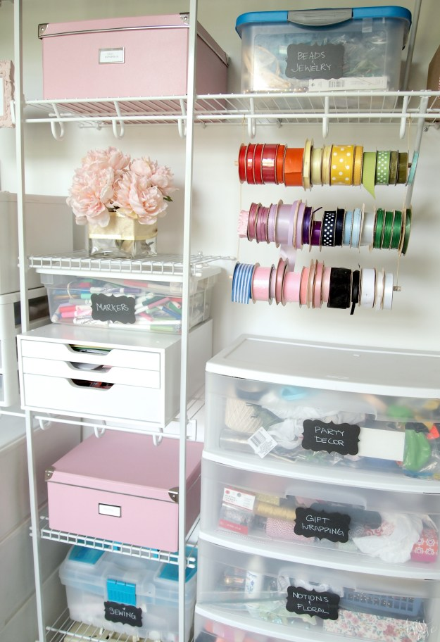 Craft Closet Storage