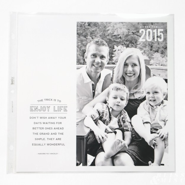 Project Life Cover Page