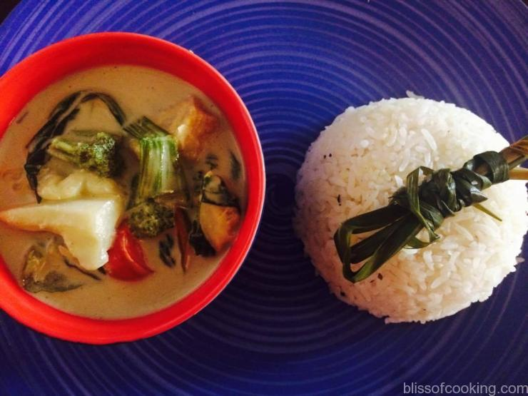 Thai Style Fragrant Rice with Thai Green Curry