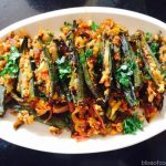 Stuffed Bhindi with Paneer, Okra, Bhindi stuffed with Paneer, Okra and cottage cheese