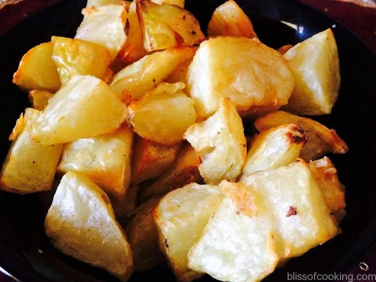 Air fried potato, Aloo Dum