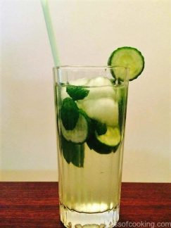 Cucumber & Basil Cooler, Infused drink for hot weather