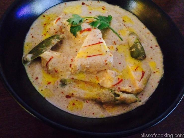 Dum ka Paneer, Cottage Cheese in White gravy