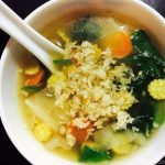 Vegetable & Crispy Rice Soup