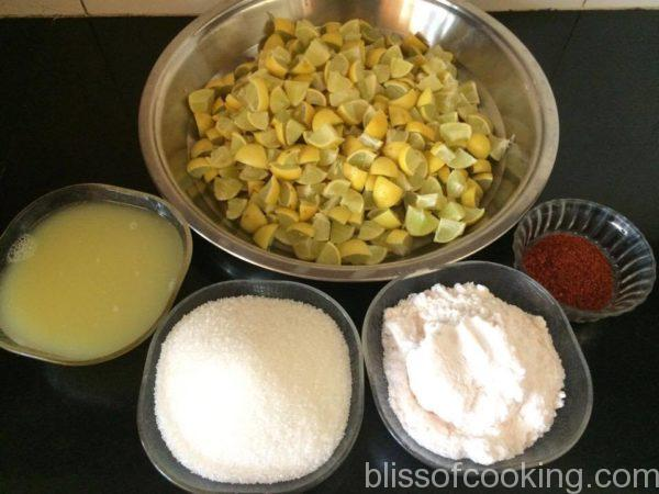 Khatta Meetha Nimboo Ka Achar (Lemon Pickle)