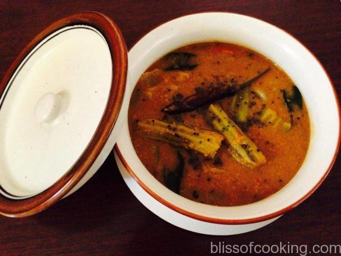 Sambhar with freshly ground masala