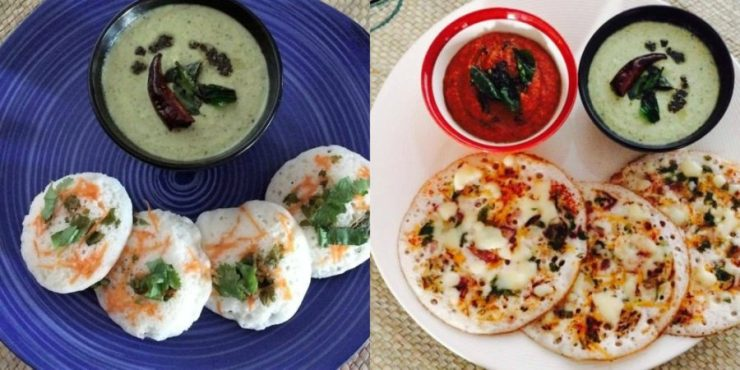 Vegetable Idli And Cheese Uthappam