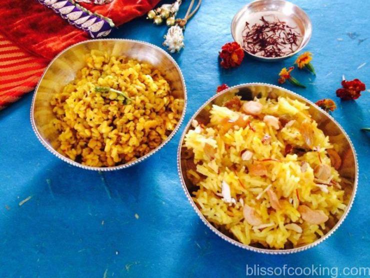 Mewe Ke Meethe Chawal with Mogar - Basant Panchami Special