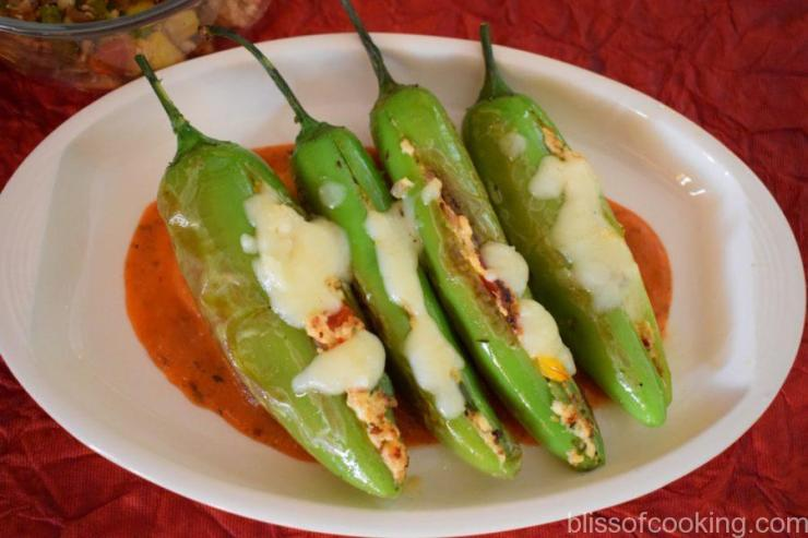 Mexican Stuffed Cheesy Peppers