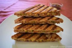 Cottage Cheese Grilled Sandwich