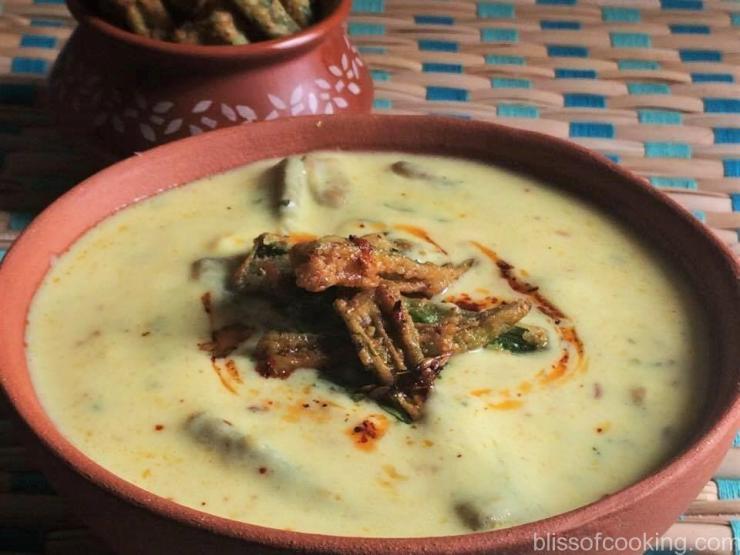 Bhindi Ki Kadhi, Okra In Yogurt Gravy