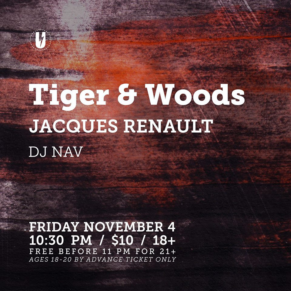 Tiger & Woods at U Street Music Hall November 4