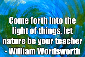 Let nature be your teacher - Wordsworth
