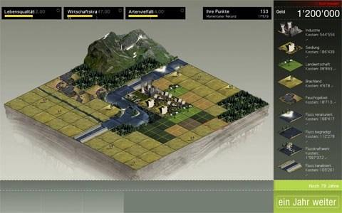 Werbeagentur - Bern - Blitz & Donner: Simulation Wasserwirtschaft online Game / Spiel