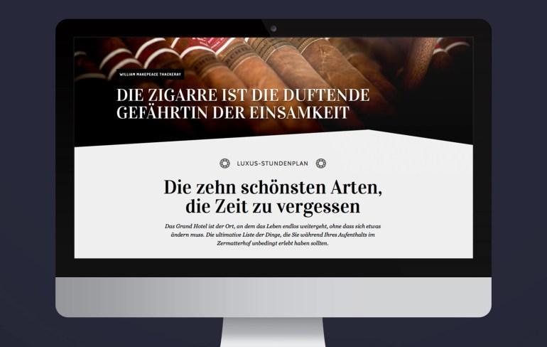 Zermatterhof Relaunch Webseite by Werbeagentur Bern - Blitz & Donner