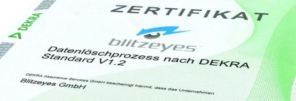 DEKRA Zertifikat Blitzeyes GmbH 2019