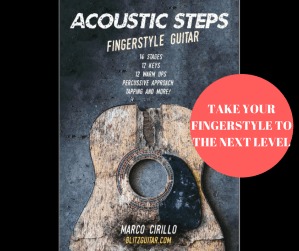 Acoustic Steps fingerstyle acoustic guitar video course for intermediate guitar players.